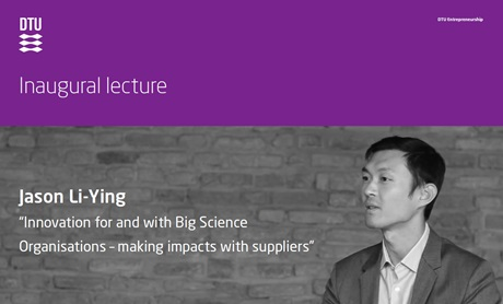 Image showing invitation to inaugural lecture Jason Li-Ying